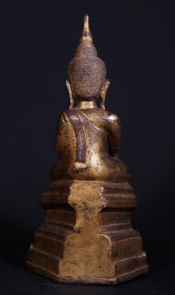 18th century Burmese Buddha statue from Burma made from Bronze