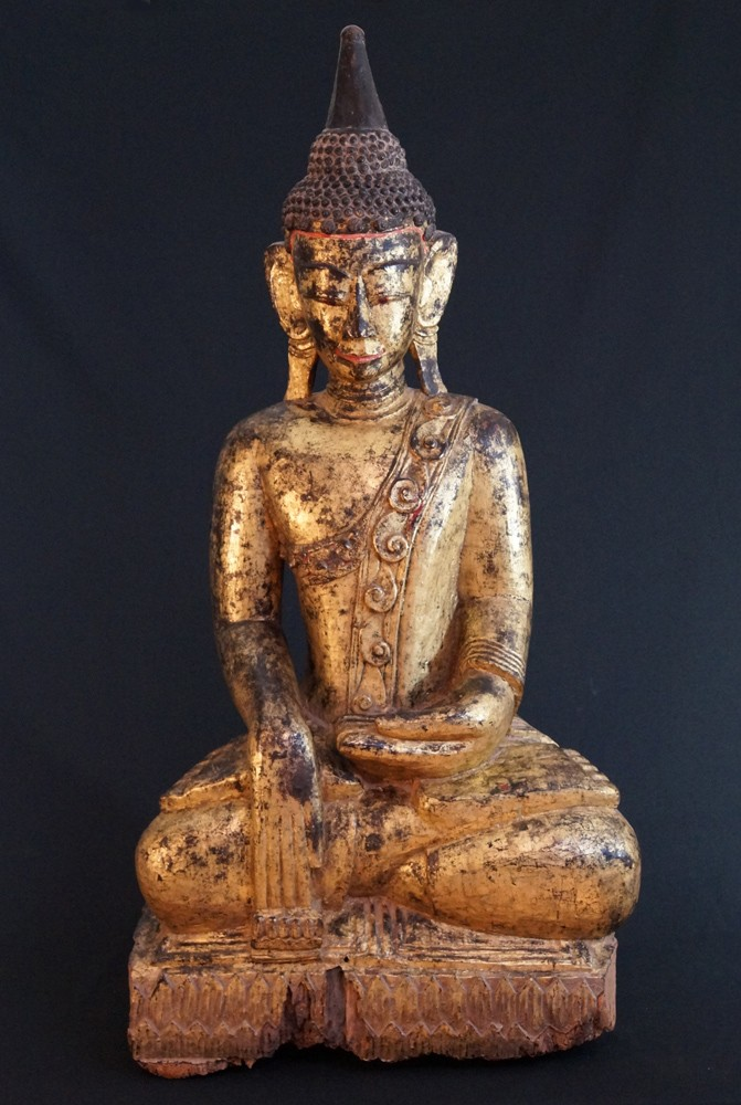 Large antique Ava Buddha from Burma