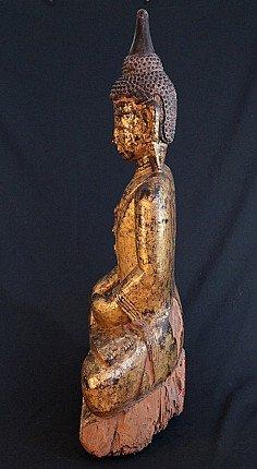 Large antique Ava Buddha