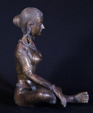 Large bronze Parvati statue