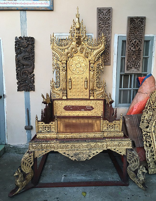 Large Burmese throne