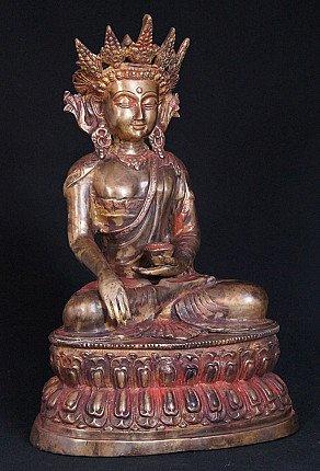 Alte bronze Kronenbuddha