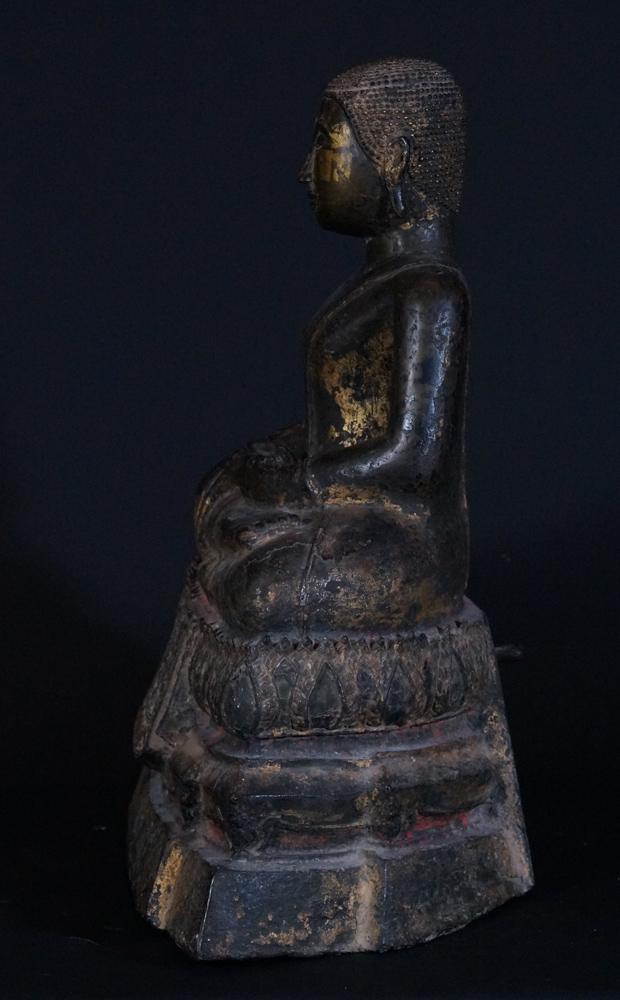 Antique Thai Monk statue from Thailand made from Bronze