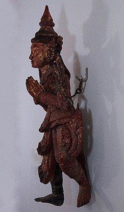 Antique Burmese spirit statue