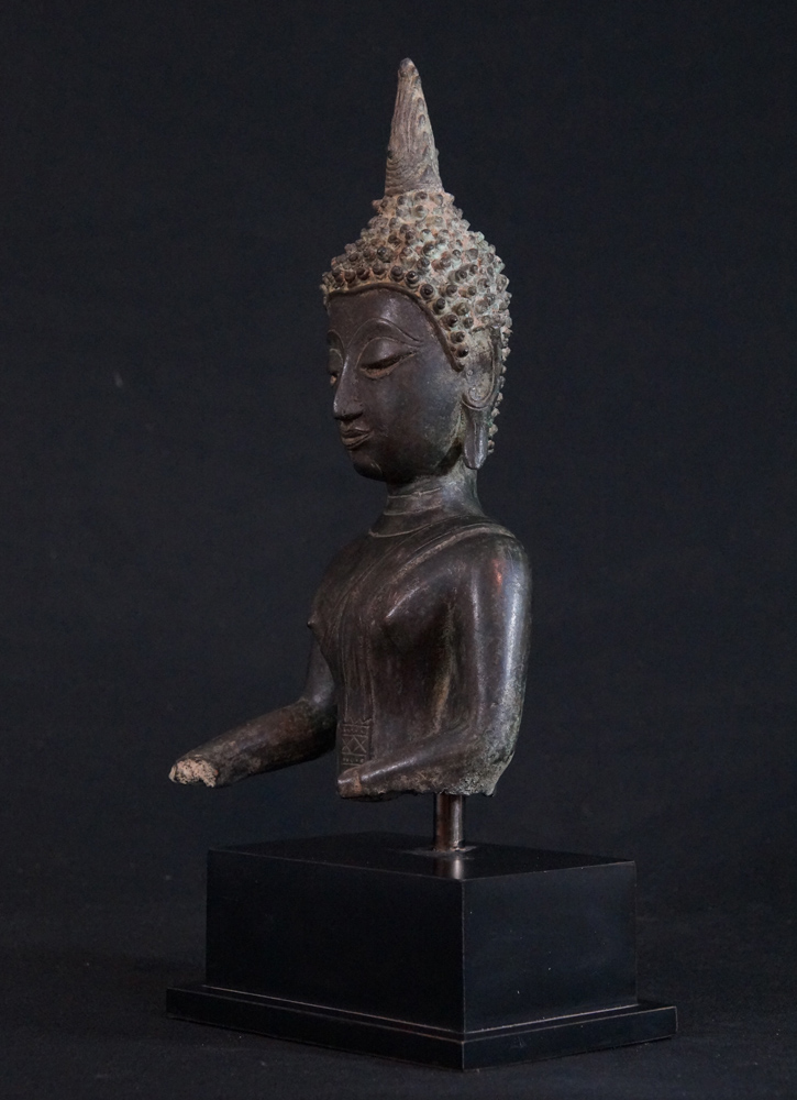 Antique Thai Buddha Head Statue From Thailand Made From
