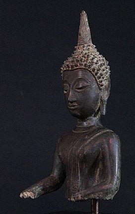 Antique Thai Buddha head statue
