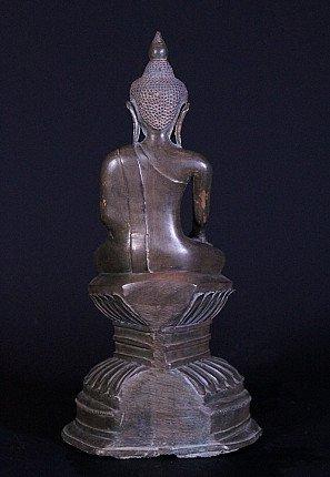 18th century bronze Ava Buddha statue