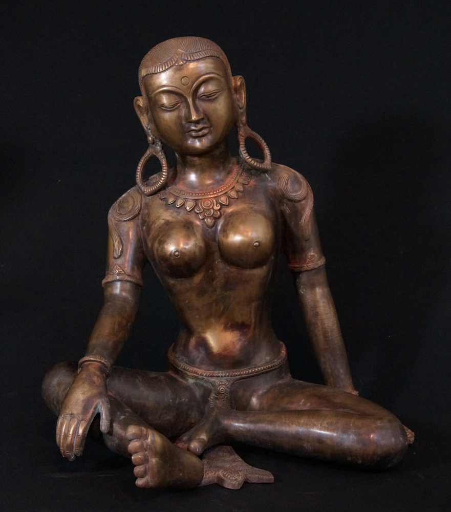 Large bronze Parvati from Nepal made from Bronze