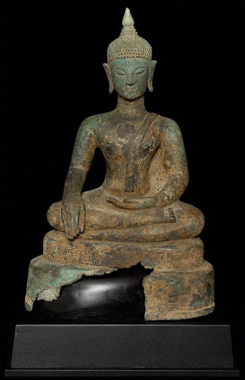 Antique North Thai Buddha statue from Thailand