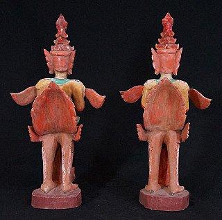 Old set of Kinnara statues