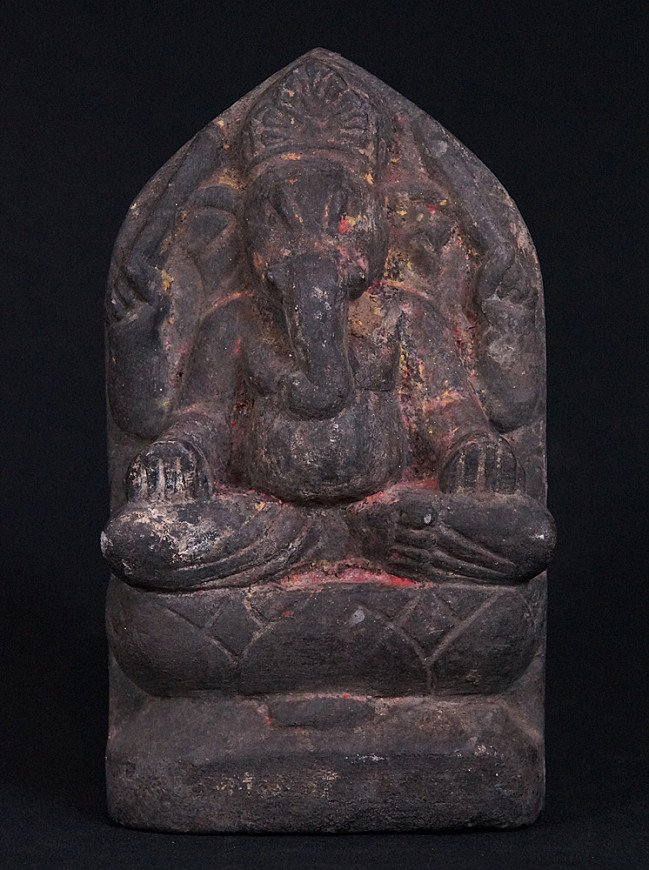 Antique stone Ganesha statue