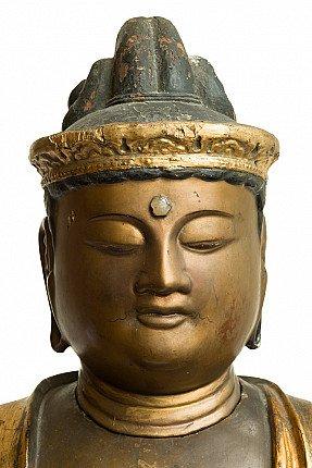 Large antique Amida Buddha statue