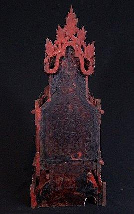 Antique Shan Temple - Throne