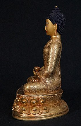 Bronze Nepali Buddha statue