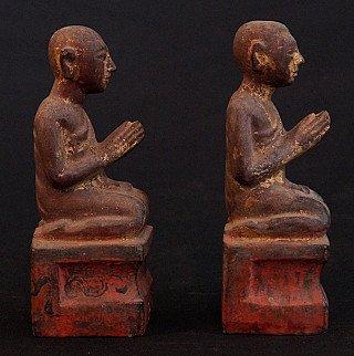 Antique pair of monks