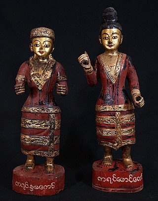 Set antique Burmese Nats