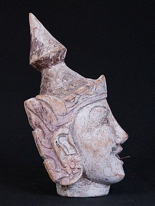 Old head of Burmese goddess