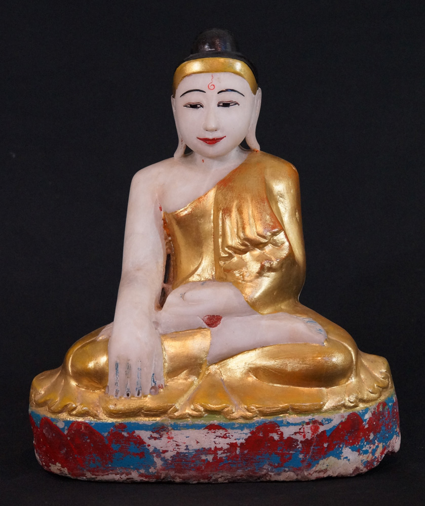 Old Mandalay Buddha statue from Burma made from Marble