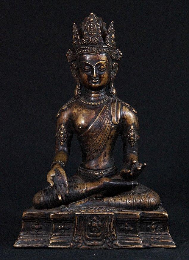 Old Nepali crowned Buddha