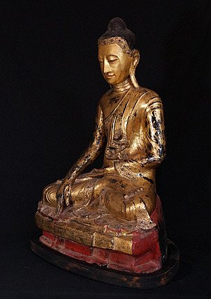 Large antique Burmese Buddha statue