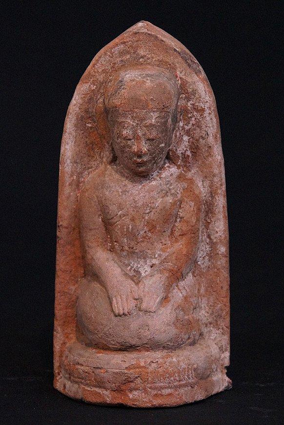 Antique stone Monk statue
