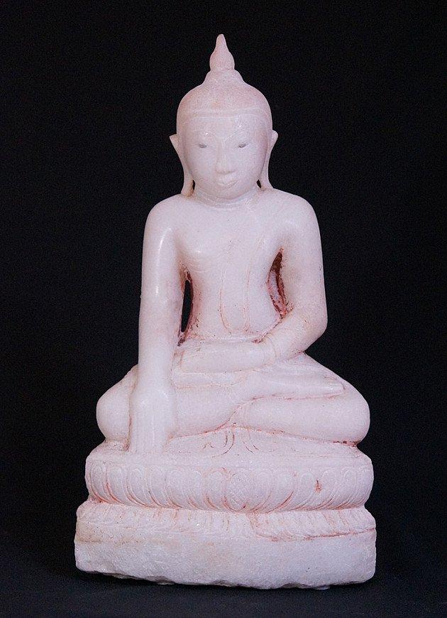 Antiek marmeren Shan Boeddhabeeld