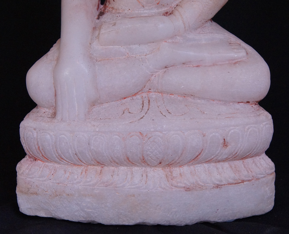Antique marble Shan Buddha statue from Burma made from Marble