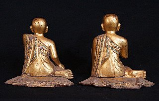 Antique pair of monks