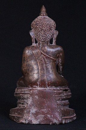 Antique bronze Shan Buddha statue