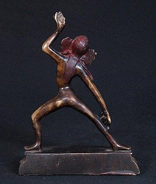 Old bronze Yogini statue