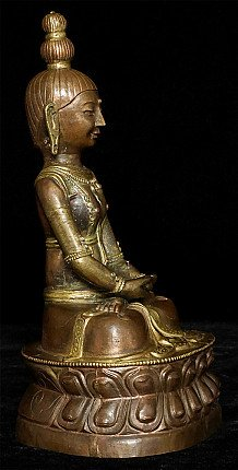 Antique copper Amitayus Buddha statue