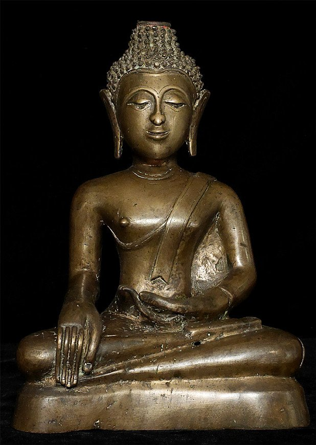 Antique Laos Buddha statue