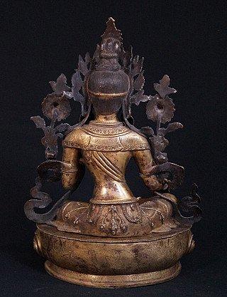 Antique bronze Green Tara statue