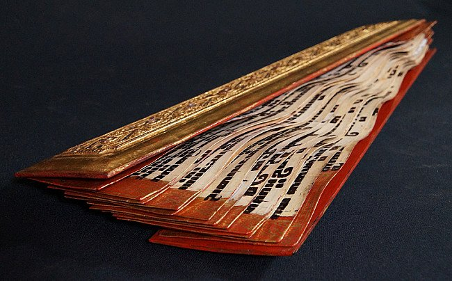 Antiek Ivoren Kammavaca Manuscript