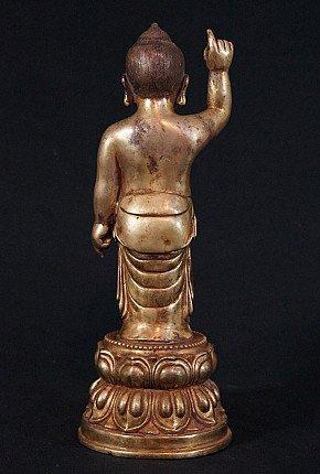 Old Baby Buddha statue