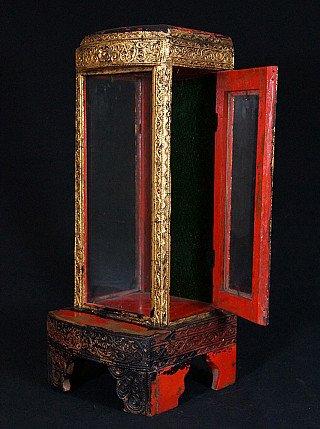 Antique Burmese home shrine