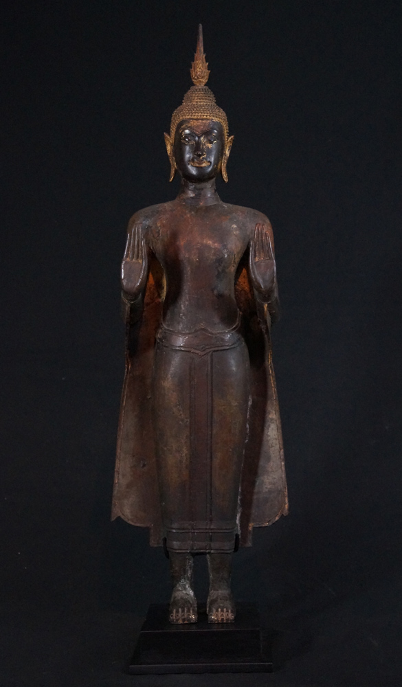 Large Ayutthaya Buddha statue from Thailand made from Bronze