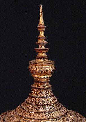 Antique lacquer offering vessel