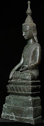 Antique bronze Shan Buddha