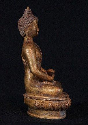 Old bronze Buddha statue