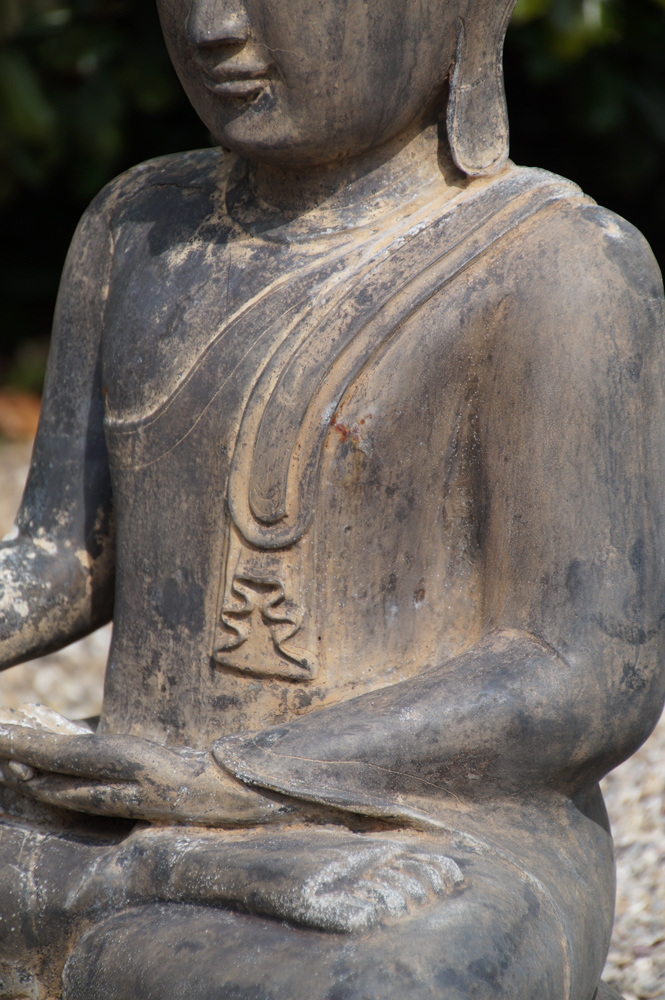 Old bronze Buddha statue from Burma made from Bronze