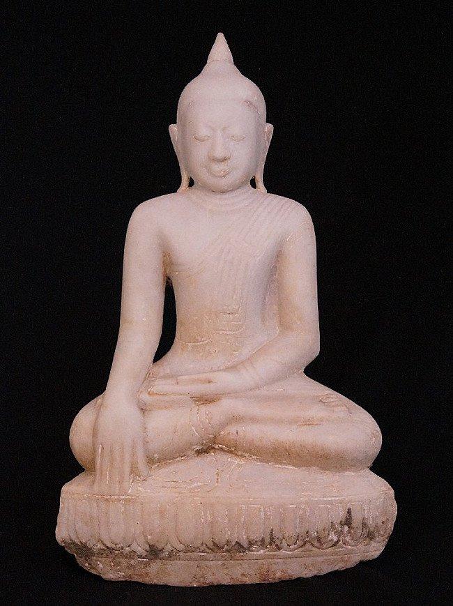 Antique Burmese Alabaster Buddha