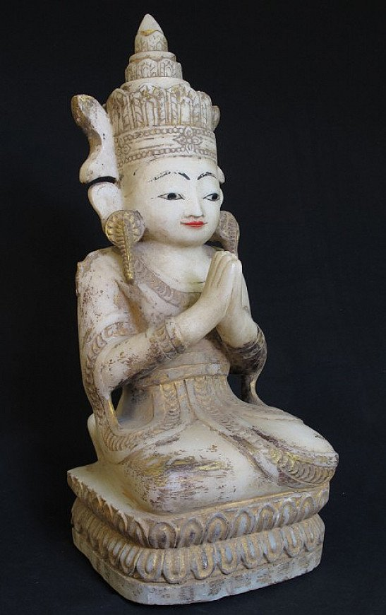 Marble crowned monk