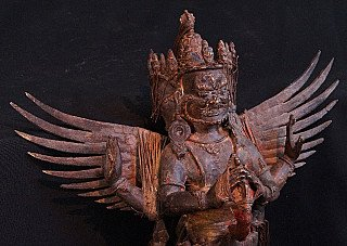 Antique Nepali Purpha statue