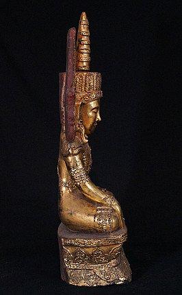 Antique Burmese crowned Buddha