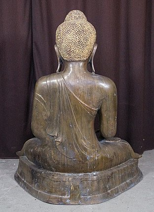Large antique bronze Buddha