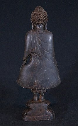 Old bronze Mandalay Buddha