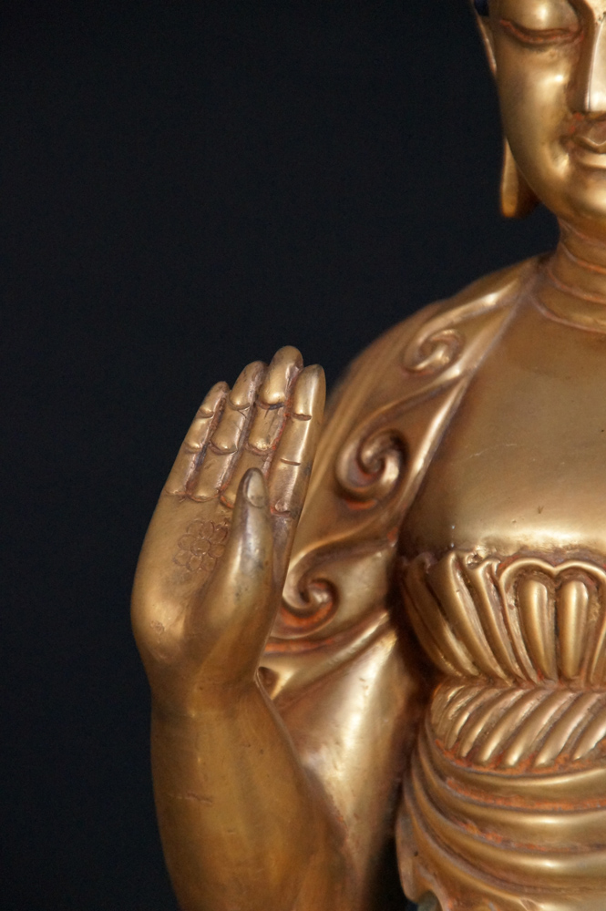 Old Japanese Buddha from Nepal made from Bronze