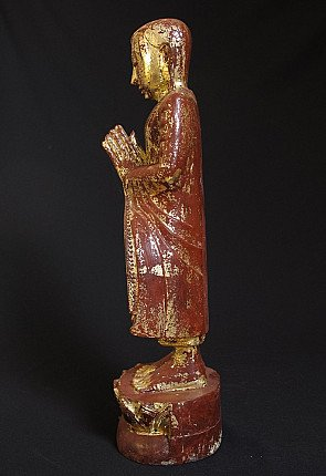 Old monk statue
