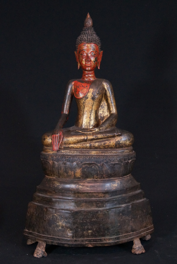 Large 17th century bronzen Buddha from Laos